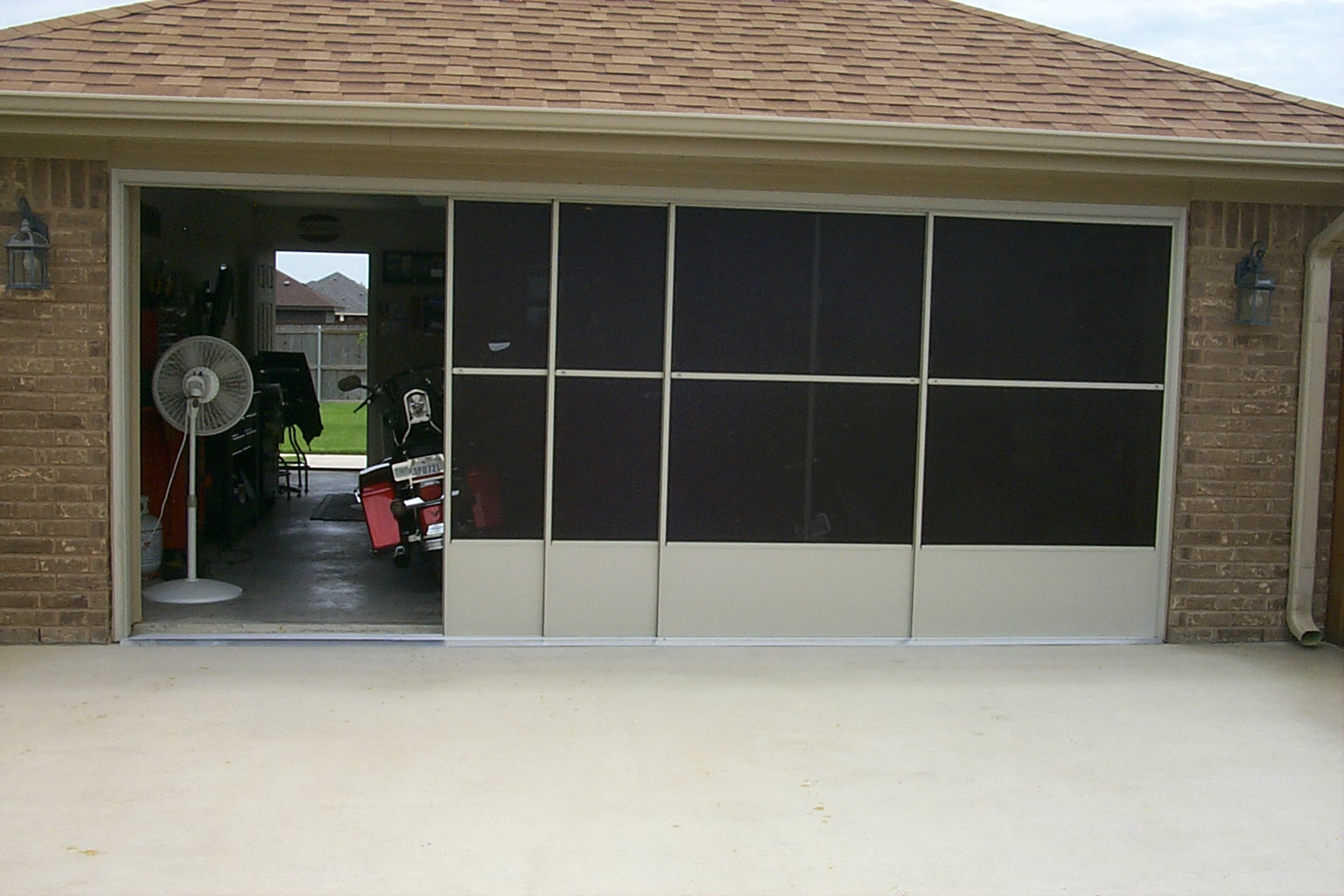 1024 #5C4F38 Gallery Solar Screens Killeen wallpaper Garage Doors In My Area 37451536
